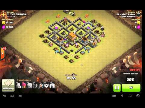 Town Hall 5 War Attack Strategy - How To Lure And Kill Clan Castle Troops And Get 3 Stars!