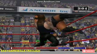 Undertaker VS Rikishi gameplay WWE Raw 2002 by EasyGameWalkthrough
