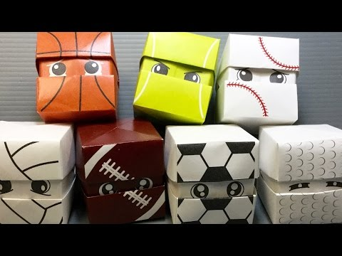 Origami Changing Faces Sports Balls Cube