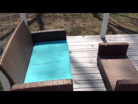 Cosco Outdoor Malmo 4-Piece Resin Wicker Patio Conversation Set, Brown