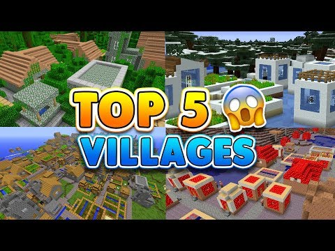 TOP 5 SECRET VILLAGE SEEDS In Minecraft! (Pocket Edition, Xbox, PC, Switch)