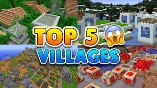 TOP 5 SECRET VILLAGE SEEDS in Minecraft! (Pocket Edition, Xbox, PC, Switch)