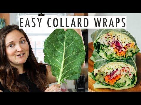 How to Make Hummus Collard Wraps