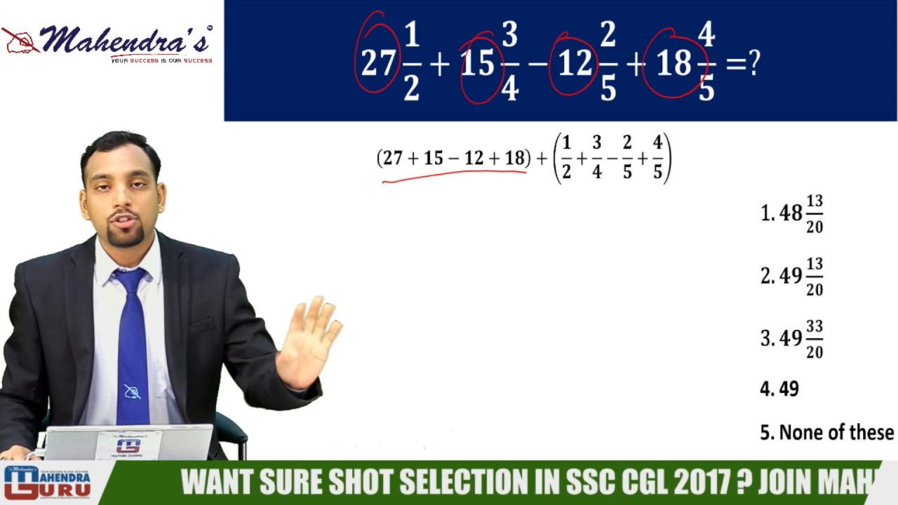 1 SIMPLIFICATIONS TRICKS | MATHS | ALL COMPETITIVE EXAMS - YouTube