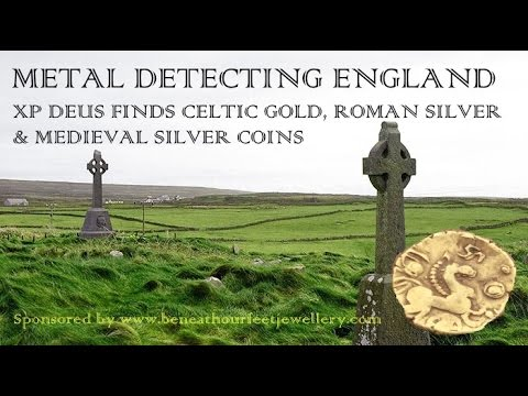 Metal Detecting England XP Deus finds Celtic Gold, Roman Silver & Medieval Silver coins