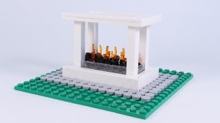 Lego Modern Outdoor Fire Pit Moc Speed Build