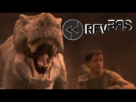 Journey To The Center Of The Earth - Running From The T-Rex Scene In REVERSE!