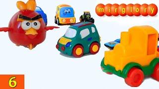 Машинки мультфильм - Город машинок - 6 серия: Паровозик, гонки. Развивающие мультики