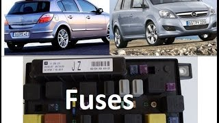 diagram of fuses - opel/vauxhall zafira b, astra h - fusebox, uec, rec -  youtube  youtube
