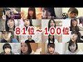 AKB48選抜総選挙 81位~100位発表 メンバーリアクション