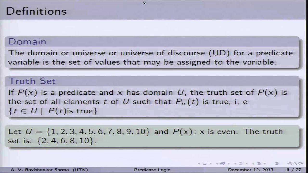 Mod-01 Lec-37 Semantics of Predicate Logic