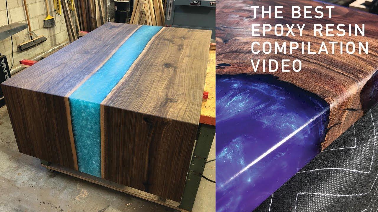 RESIN EPOXY | 5 AMAZING EPOXY RESIN TABLE & RESIN ART | DIY