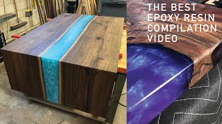 RESIN EPOXY | 5 AMAZING EPOXY RESIN TABLE & RESIN ART | DIY WOODWORKING PROJECT COMPILATION