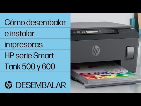 Cómo desembalar e instalar impresoras HP serie Smart Tank 500 y 600 | Impresoras HP | HP