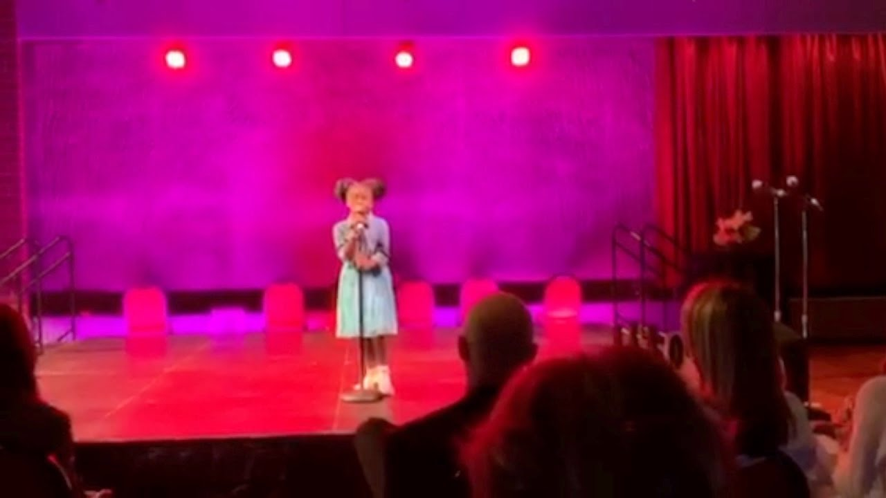 """Amazingly Talented 9 Year Old Sing's """"Who's Loving You"""""""