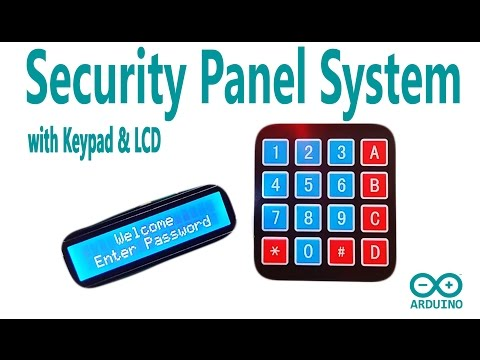 Arduino Tutorial - Security Panel System with using Keypad and LCD Display | Mert Arduino and Tech