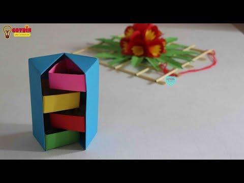 Ide Kreatif Membuat Rak Mini dari Kertas Origami | Rak Rahasia