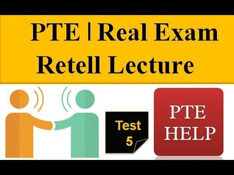 PTE Actual test's Retell lecture and Summarize Spoken Text | with Sample 86+ scores| Test 5