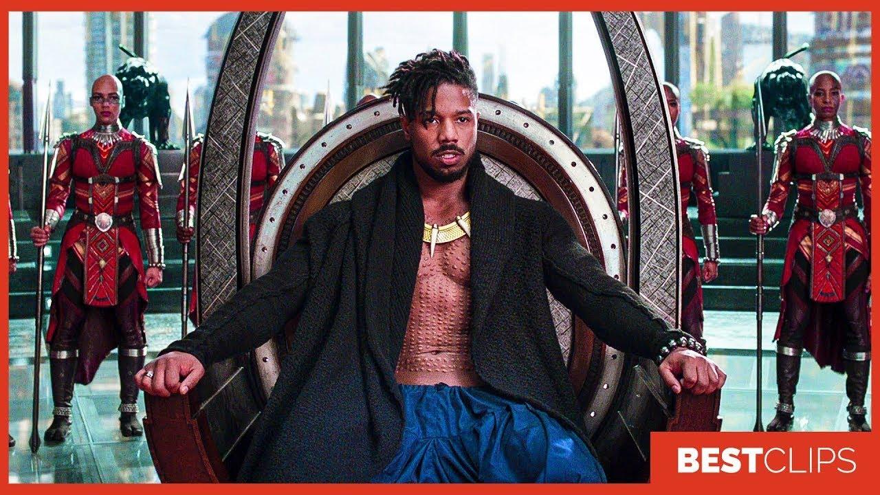 Download Killmonger Becomes The King Of Wakanda Scene   Black Panther (2018) Movie CLIP 4K