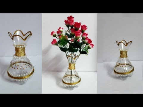 Diy Flower Vase From Plastic Bottle At Home Best Out Of Waste