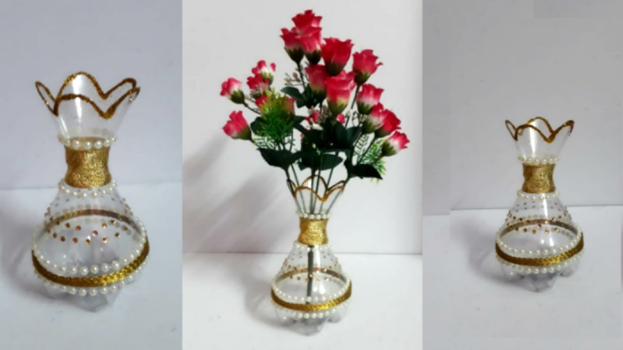 how to make a flower vase out of plastic bottle