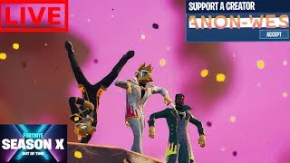 Saison X BattlePass Giveaway! Fortnite Mobile Live! IPhone// 800 victoires