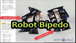 Como hacer un robot bípedo paso a paso con arduino o PIC | editronikx