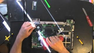 DELL E1405 laptop take apart video, disassemble, how to open disassembly