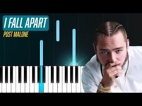 """Post Malone - """"I Fall Apart"""" Piano Tutorial - Chords - How To Play - Cover"""