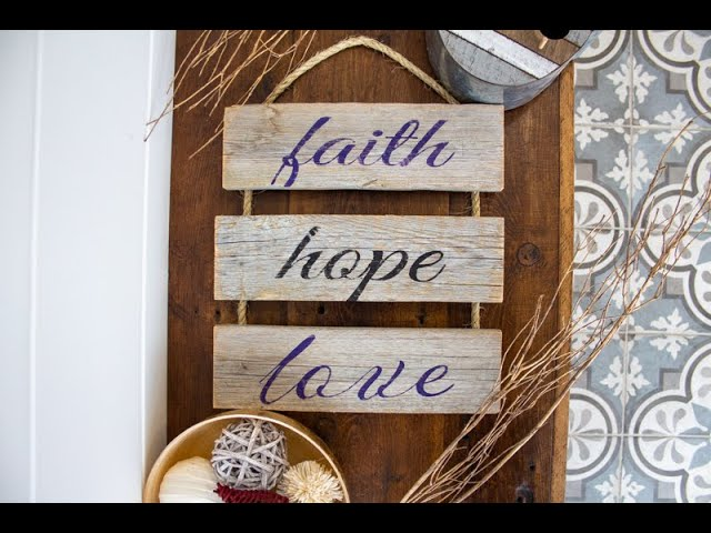 Rustic Rope Ladder Demo - Faith Hope Love