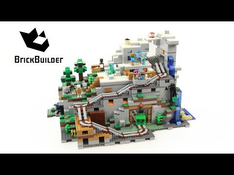 Lego Minecraft 21137 The Mountain Cave - Lego Speed Build