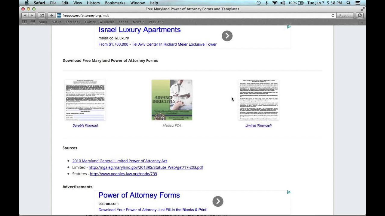 How To Write A Maryland Power Of Attorney Form Youtube