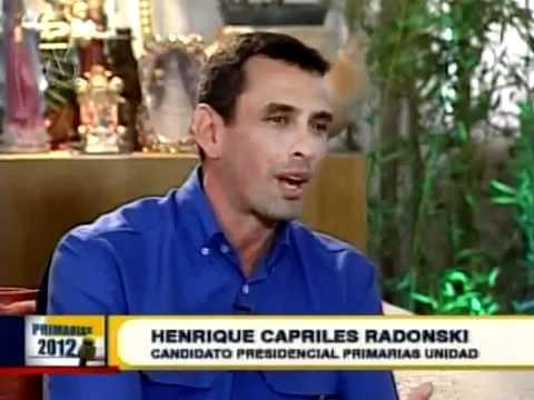 Henrique Capriles Radonski 8 de febrero 2012  (PARTE I )