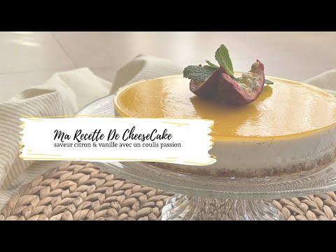 ❥-ma-recette-de-cheese-cake---saveur-citron-&-vanille-avec-un-coulis-passion
