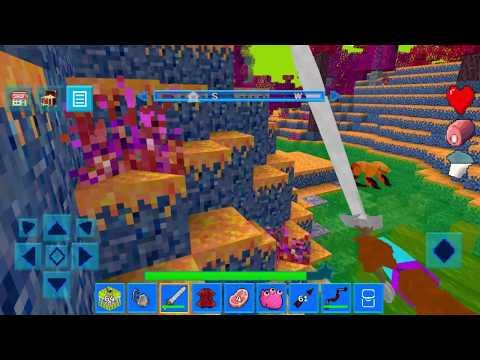 Играем в AlienCraft - Survive & Craft (Blocks Building Game) (PLAYING PART 5)