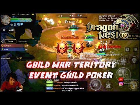 GUILD WAR !!! Dragon Nest M - Event Poker & Guild War Teritory