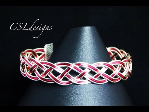 Wirework snake braid bracelet