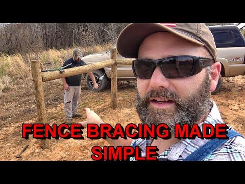 FARM FENCE BRACING MADE EASY...MEET AN AWESOME 13 YEAR OLD YOUTUBER!
