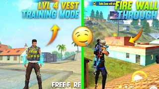 FREE FIRE - LATEST IQ TRICKS TO SURPRISE ENEMIES 🥵🔥| MAX VEST IN TRAINING & FIRE WALL THROUGH ⚡