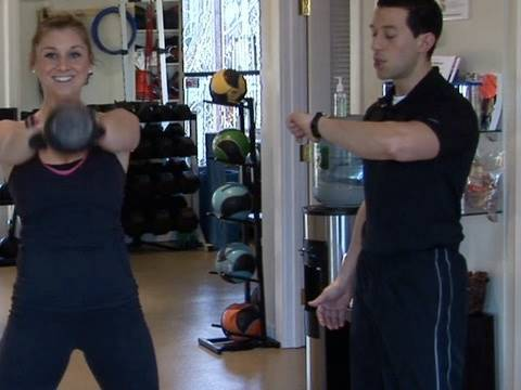 4-min Workout Tabata Interval: Kettlebell Swings Travel Video