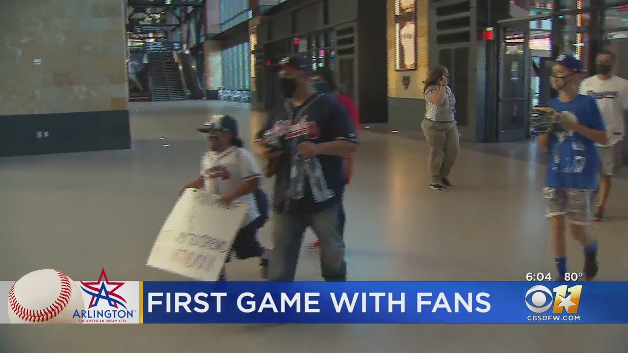 Globe Life Field Opens To Fans For Baseball Playoffs