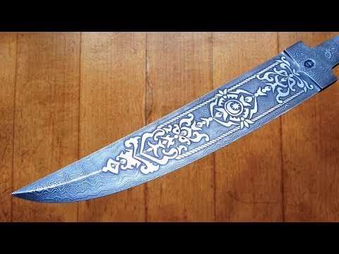 Blade Bebut from Damascus steel  Manufacturing process