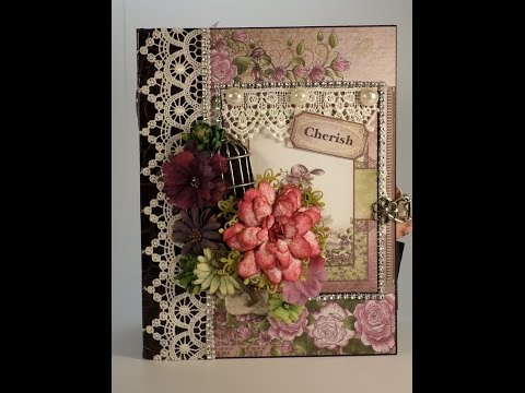 PART 1 TUTORIAL HEARTFELT CREATIONS RAINDROPS ON ROSES MINI ALBUM Read Disclaimer DESIGNS BY SHELLIE