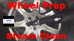 Steam clean the wheels of your car! tutorial (McCulloch 1275 steamer)
