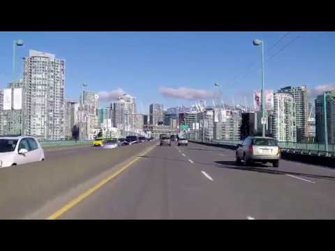 Driving in Vancouver BC Canada - Cambie Street Tour to City Centre
