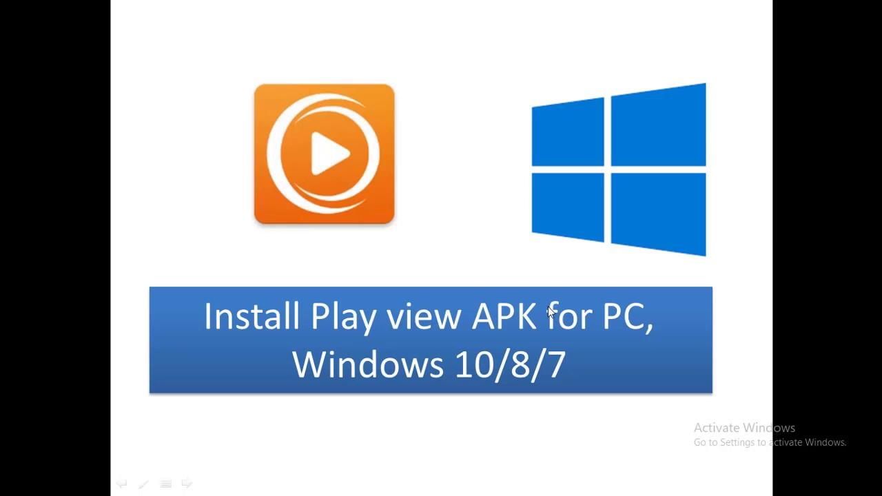 descargar apk de playview para pc