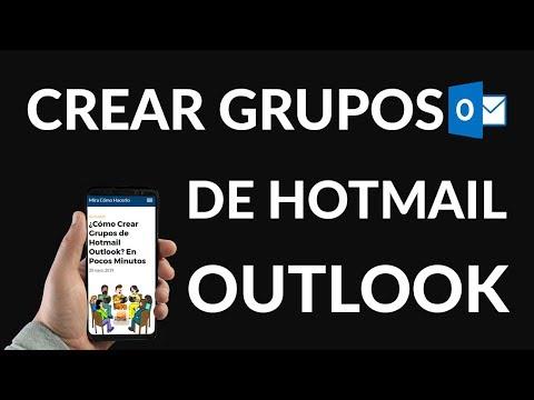 ¿Cómo Crear Grupos de Hotmail / Outlook?