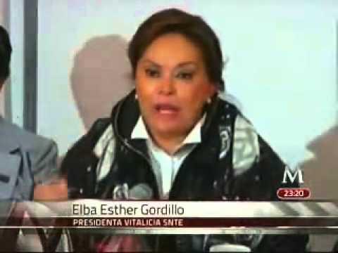 A los maestros no se les amenaza: Elba Esther Gordillo
