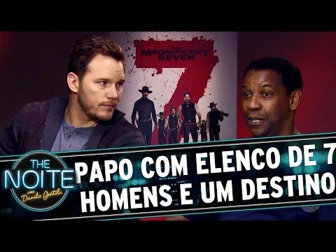 """The Noite (20/09/16) - Léo Lins entrevista elenco do filme """"Sete Homens e Um Destino"""""""
