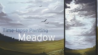 Time-lapse painting: Meadow